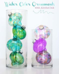 DIY ~ Water Color Alcohol Ink Ornaments