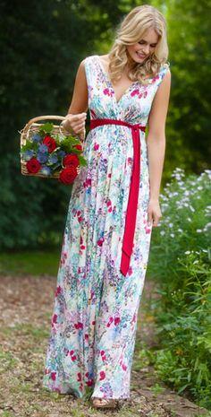 Anastasia Maternity Gown Long Poppy by Tiffany Rose #Royalascot #Ascotstyle #Ascotfashion