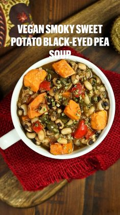Whole Food Recipes, Soup Recipes, Vegetarian Recipes, Healthy Recipes, Healthy Foods, Free Recipes, Recipies, Black Eyed Pea Soup, Black Eyed Peas