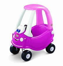 Little Tikes Princess Cozy Coupe Car Ride-On Kids Toy Vehicle Purple Pink Girl's
