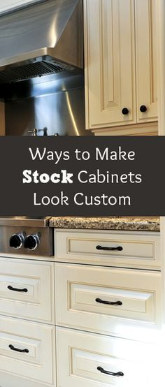 There are a few things you can do to transform your stock kitchen cabinets from a basic, right out of the factory look, to a custom... View the slideshow below to read more: