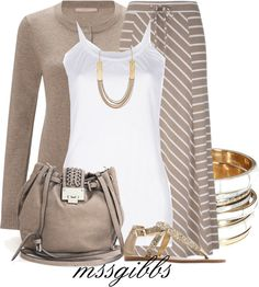 """""""Stripes and Shine"""" by mssgibbs ❤ liked on Polyvore"""