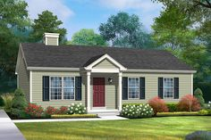 House Paint Exterior, Exterior House Colors, Ranch Exterior, Ranch House Landscaping, Florida Landscaping, Yard Landscaping, Ranch House Plans, Ranch House Additions, Traditional Exterior