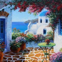 Santorini Siesta By Graham Denison. Available