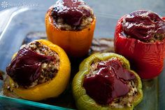 Dad's Stuffed Bell Peppers Recipe on SimplyRecipes.com