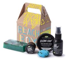 great gift for teachers - end of year...(ours loved it)   Beach Box Gift Set – $29.95 @ Lush (Aug2)