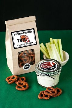 Buffalo wing pretzel and blue cheese dipping sauce recipe