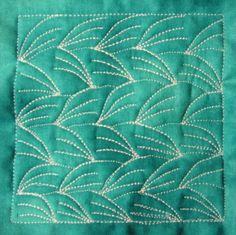 The Free Motion Quilting Project: Day 55 - Wheat in the Wind
