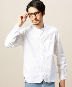 BEAUTY&YOUTH MENS(ビューティアンドユース メンズ)の<MHL.> 11 POPLIN N/C SHT/シャツ(シャツ/ブラウス)|ホワイト