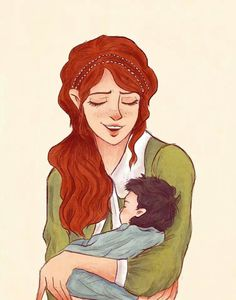 Lily and baby Harry