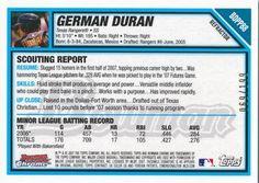 2007 Bowman Draft Picks & Prospects - Chrome Futures Game Prospects Blue Refractors #BDPP88 German Duran Back