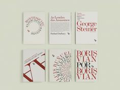 typographic 2 colour bookcovers by portugese creative agency FBA.