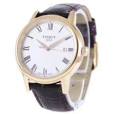 Tissot T-Classic Carson Quartz Men's Brown Leather Strap Watch T085.410.36.013.00