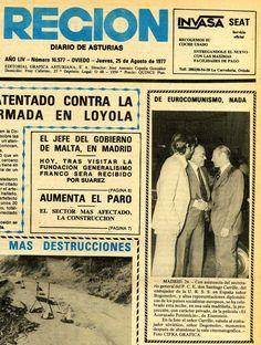 """El periódico """"Región"""" tituló la noticia de la fotografía anterior: """"De eurocomunismo, nada""""."""