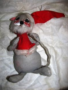 1971 Annalee Mobilitee Doll Mouse Christmas by TheIDconnection, $20.00