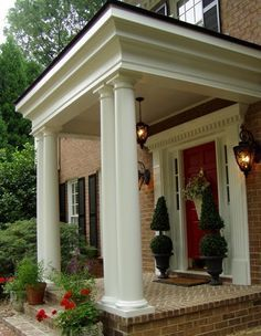 texas style homes with balcony over front door - Google Search