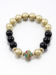 Black and Gold,fashion Indian Vintage Bracelet Bead Accent Stretch Style Materials Rhinestone Length 10 Inch Width 0.4 Inch Unknown http://www.amazon.com/dp/B00KXAVD44/ref=cm_sw_r_pi_dp_RvMLvb0SNK7VB