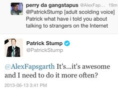 patrick stump everyone