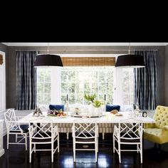 Bamboo Chair - Transitional - dining room - Windsor Smith Home Asian Dining Chairs, Bamboo Dining Chairs, Dining Room Chairs, Dining Tables, Rattan Chairs, Fine Dining, Dining Nook, Dining Room Design, Banquette Dining