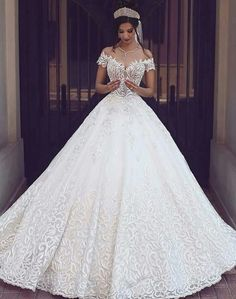 Cheap gown protector, Buy Quality dress bridal gown directly from China gown disposable Suppliers: 2017 Vintage Lace Wedding Dresses Off the Shoulder Short Sleeves Applique Wedding Bridal Gowns Robe De Mariage Custom Made Cheap Bridal Dresses, Long Wedding Dresses, Princess Wedding Dresses, Bridal Gowns, Wedding Gowns, Tulle Wedding, Elegant Wedding, Trendy Wedding, Wedding Ideas