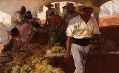 Joaquín Sorolla Bastida (1863-1923). Transportando la uva. 1900. Óleo sobre lienzo. Museo de Bellas Artes de Asturias, Oviedo, Spain.
