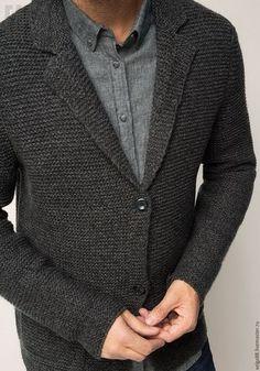 Knit Jacket, Knit Cardigan, Knit Fashion, Mens Fashion, Denim Blazer, Dress For Success, Knitwear, Men Sweater, Vogue