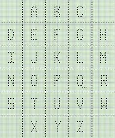 #Free chart; crochet;  Alphabet chart for Caron Baby Afghan ~~