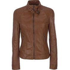 Western Leather Women's Leather Jacket Brown (€135) ❤ liked on Polyvore featuring outerwear, jackets, western jackets, real leather jackets, brown jacket, cowboy leather jacket and leather jackets