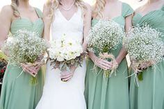 sage green and baby's breath, photo by rubberbootsphotography.com