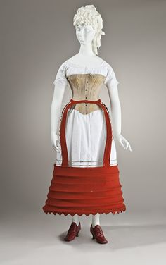 Undergarments, circa 1870  This crinoline shape would make a really cool steampunk overskirt.