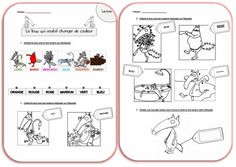 Exercices de lecture sur le loup. Le loup qui voulait changer de couleur. Learn To Speak French, Album Jeunesse, Reading Lessons, Teaching French, French Language, Childrens Books, Preschool, Learning, History Books