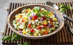 Ensalada vegana con quinoa | Demos la vuelta al día