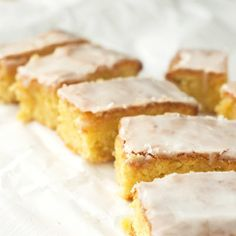 Lemon Drizzle Slices (Gluten-free and dairy-free) with some surprise ingredients...