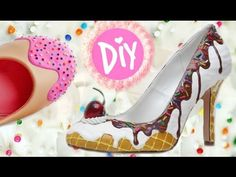 This is your spot for women's lifestyle videos, including educational women's health topics like periods! Ice Cream Shoes, Diy Ice Cream, Cream Cream, Ice Cream Costume, Shoe Cupcakes, Candy Costumes, Kawaii Diy, Shoe Art, Painted Shoes