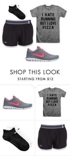 """""""Running Outfit"""" by kaitlyns0512 on Polyvore featuring NIKE, Under Armour, women's clothing, women, female, woman, misses and juniors"""
