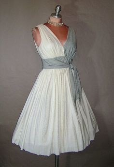 Vintage Silver and White cocktail dress