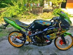 10 Gambar 7 Gambar Modifikasi Motor Ninja Rr 150 Cc 2 Tak Warna Hijau Minimalis Terbaik Kawasaki Ninja Hijau Motor Trail