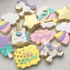 "792 Likes, 45 Comments - Natasha (@natsweets) on Instagram: ""⭐️Always Be Yourself Unless You Can Be A Unicorn! ⭐️ #youaremagical #unicornparty #unicorncookies…"""
