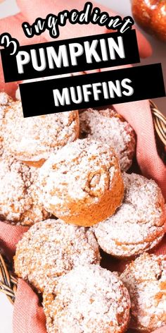 These 3 Ingredient Pumpkin Muffins are one of my favorite easy dessert recipes. They are light and moist and only have 3 ingredients.