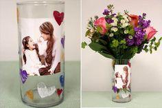 65 DIY Mother's-day Craft – Cheerful & Easy To Do Ideas DIY-Foto-Vase – 65 DIY-Muttertagskunst – Fröhliche und einfach umsetzbare Ideen Diy Mother's Day Crafts, Vase Crafts, Mother's Day Diy, Diy Crafts For Kids, Kids Diy, Craft Kids, Holiday Crafts, Diy Gifts For Grandma, Homemade Gifts For Mom
