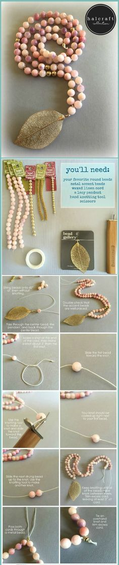 DIY Seychelles Knotted Necklace - learn how to make #knotted #necklaces with the Beadalon #knotting #tool and #beadgallery #beads