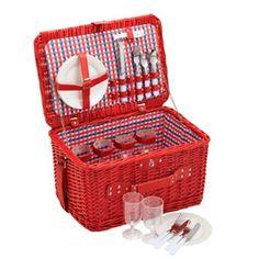 Ver detalles de Cesta para picnic roja cuadritos - Coolmovers By Kitchen Craft