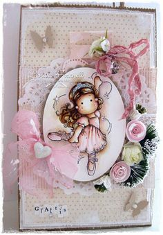 Tilda card created by LLC DT Member Louise Fraenell, using papers from Pion Design's Fairytale of Spring collection.
