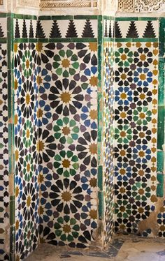 Spain | Art of Islamic Pattern Alhambra Spain, Menorca, Architecture Details, Geo, Islamic, Bathrooms, Tiles, Patterns, Gallery