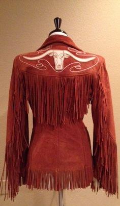 1940's Women's Vintage Western Buckskin Fringe Jacket