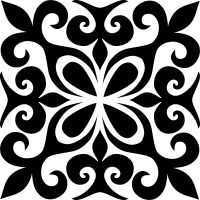 Ornament Icon – T-Shirts & Sweaters Stencil Patterns, Stencil Designs, Tile Patterns, Embroidery Patterns, Stencils, Stencil Painting, Home Bild, Diy And Crafts, Paper Crafts