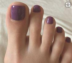 Simple Toe Nails, Pretty Toe Nails, Cute Toe Nails, Cute Toes, Pretty Toes, Painted Toe Nails, Fingernails Painted, Pedicure Colors, Nail Colors