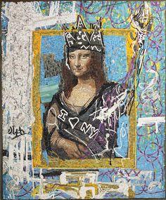 """Domingo Zapata """"HD Mona Lisa Loves New York"""" 2013 - Fabrication by Arianna Gallo & Koko Mosaico Ravenna"""