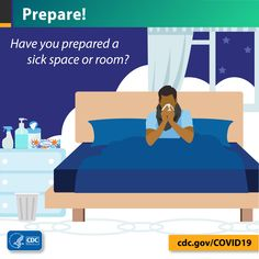 Have you picked a place in your home where someone can stay if they get sick with COVID-19? If a person you live with gets sick, they should stay separate from others. If possible, use an extra room or unused area and a separate bathroom.