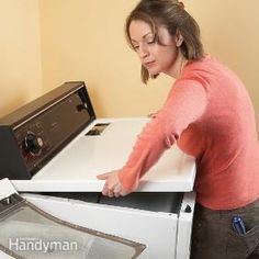 How to clean a dryer.